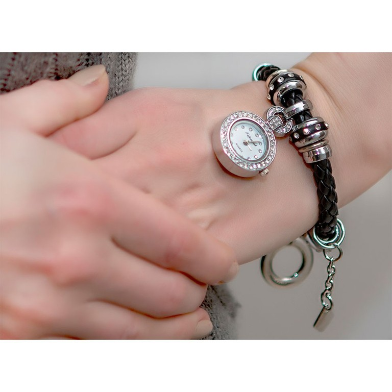 Часы - браслет в стиле Pandora с бусинами - шармами из ...
