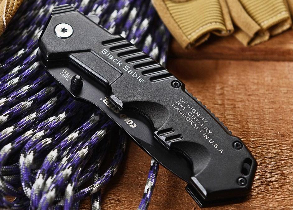 Нож cold steel black sable hy217 купить станки для заточки ножей шведских ледобуров mora